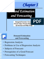 Demand Estimation and Forcasting