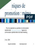 Memo Promotion