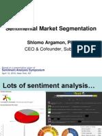 Sentimental Market Segmentation