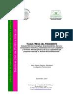 Facultades del Presidente. Estudio teórico-conceptual, de antecedentes, Derecho comparado e iniciativas