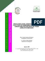 Regulación a nivel constitucional de las facultades de nombramientos de diversos cargos públicos por parte del Poder Legislativo mexicano (Claudia Gamboa Montejano y Sandra Valdés Robledo, ago2009)