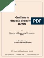 Certificate in Financial Engineering (CFE) - Brochure (4.2)