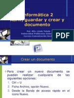 2. Abrir, Guardar y Crear y Documento
