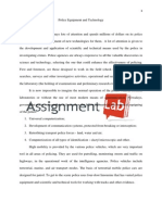 Police Equipment and Technology/ Essay / Paper by AssignmentLab.com