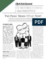 'Pari Passu' Means What Now