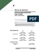 Manual de operación sistema dividido (R-22), marca TRANE