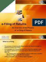 E-Filing of Returns