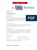 8th Phy Sci Syllabus