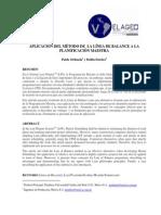 Aplicacion Metodo Linea Balance Programacion Maestra