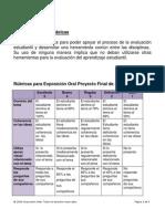 evaluaciones por rbricas del proyecto entrepares 2