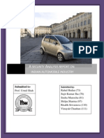 security analysis of automobile industry