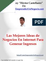 Las Mejores Ideas de Negocios en Internet Para Generar Ingresos