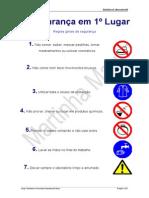 regras de segurança no laboratório e material de laboratório
