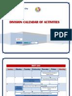 Calendar of Activities 2013-2014