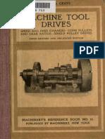 Machine Tool Drives Book No. 16