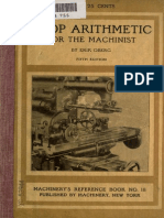 Shop Arithmetic for the Machinist Book No. 18