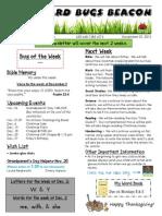 November 22 Newsletter