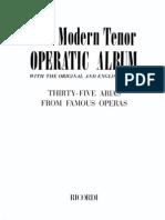 Arias de Ópera,Para Tenor