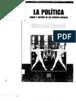 Sartori, Giovanni ÔÇô La pol+¡tica. L+¦gica y M+®todo en las Ciencias Sociales (pp. 29-55 - Cap II) - Mexico, FCE, 2006