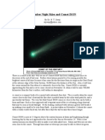 November 2013 Night Skies and Comet ISON+
