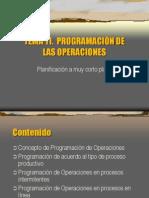 PROGRAMACIÓN DE LAS OPERACIONES
