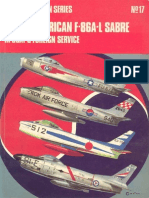 Osprey Aircam Aviation Series 17 - North American F-86A-L Sabre in USAF & Foreign Service