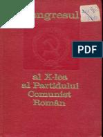 1969 Raport la Congresul al X-Lea al PCR