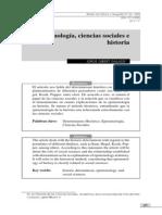 Epistemología, ciencias sociales e historia