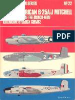 Osprey Aircam Aviation Series 22 - North American B-25A-J Mitchell in USAAF-USMC-RAF-Free French-NEIAF Kon.marine &Foreign Service