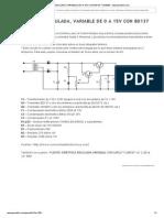 Fuente Regulada, Variable de 0 a 15v Con Bd137 y 2n3055 - Www.pesadillo