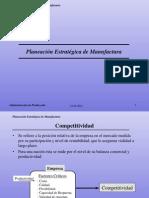 Planeación Estratégica de Manufactura