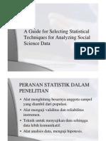Peranan Statistik Dalam Penelitian Alat Analisis