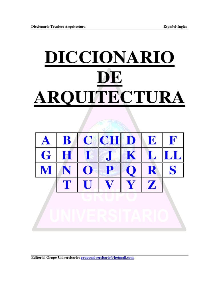 Diccionario arquitectonico espaol ingles fandeluxe Choice Image