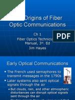 The Origins of Fiber Optic Communications