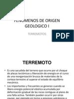 Fenomenos de Origen Geologico i