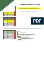 Calendário Académico 2013-14
