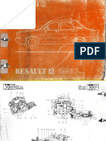 Renault 12 Catalogo de Piezas de Repuestos 1992