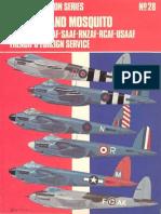 Osprey Aircam Aviation Series 28 - De Havilland Mosquito in RAF-FAA-RAAF-SAAF-RNZAF-RCAF-USAAF-French & Foreign Service