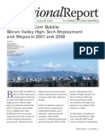 Silicon Valley High-Tech Employment and Wages in 2001 and 2008