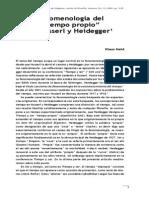 Hurrseel y Heidegger
