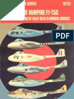 Osprey Aircam Aviation Series 33 - De Havilland Vampire F1-T55 in RAF-FAA-RAAF-RNZAF-SAAF-RCAF & Foreign Service
