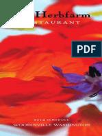 The Herbfarm Restaurant Dining Schedule & Brochure