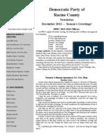 DPRC December 2013 Newsletter