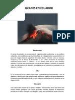 Volcanes en Ecuador
