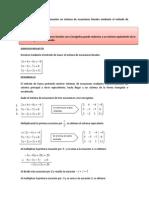 Sistema de Ecuaciones y Metodo de Gauss(1)
