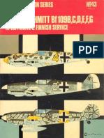 Osprey Aircam Aviation Series 43 - Messerschmit Bf109.B,C,D,E,F,G in Luftwaffe & Finnish Service Vol.4