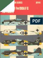 Osprey Aircam Aviation Series 44 - Focke-Wulf F190 A-F-G Luftwaffe