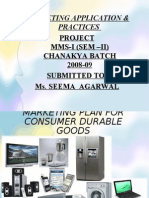 Market Plan For Consumer Durable Goods