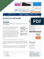 Big Banks Shed $43 Bln MBS _ Securitization Intelligence