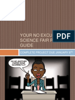 your no excuses science fair project guide